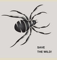 save the wild5 vector image vector image