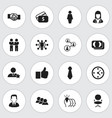 set of 16 editable job icons includes symbols vector image vector image