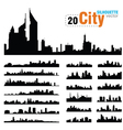 set of city skylines vector image vector image