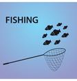 small fish fishing eps10 vector image