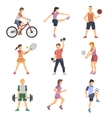 Sport People Flat Icons Set vector image vector image