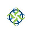 swirl circle logo vector image