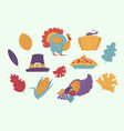 thanksgiving day elements for holiday design in vector image vector image