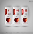 Valentine tabs with polygonal heart design vector image vector image