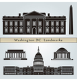 washington dc landmarks and monuments vector image vector image