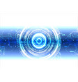 white blue technology background vector image vector image