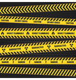 Yellow Hazard Warning Tapes vector image vector image