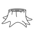 young tree stump icon outline style vector image