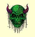 zombie evil skull halloween vector image vector image