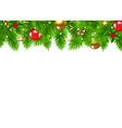 Christmas Fir Tree Border vector image
