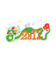 dragon new year vector image