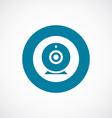 web camera icon bold blue circle border vector image