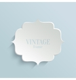White paper banner in vintage or retro style vector image