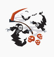 Grim Reaper with scythe for halloween vector image