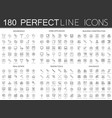 180 modern thin line icons set household home vector image vector image