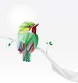 3d origami low polygon bird vector image vector image