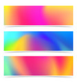 abstract bright holi colorful cards collection vector image vector image