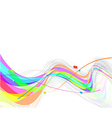abstract rainbow wave line vector image vector image