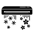 air conditioner icon simple style vector image