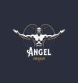 angel man emblem vector image vector image