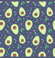 avocado seamless pattern for print and fabric vector image vector image