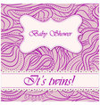 Baby-shower-wave-pattern-twin vector image vector image