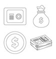 bank and money logo set of vector image vector image