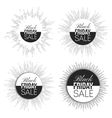 Black friday elements noir design sale banners vector image