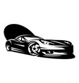 black sportcar element for design monochrome vector image