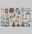 boho collection with wild west design elements vector image vector image