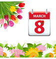 Calendar And Flower Border vector image