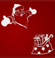 christmas composition from silhouettes of santa vector image vector image