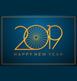 classy 2019 happy new year background vector image vector image