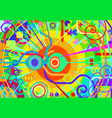 color primary abstract hypnosis vector image