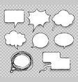 comics message clouds vector image