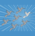 concept of individuality leadership paper bird vector image vector image
