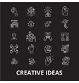 creative ideas editable line icons set on vector image vector image