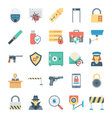 Crime and Security Icons 4 vector image vector image