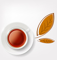 cup of tea Stock vector image vector image