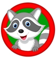 Cute raccoon cartoon posing vector image vector image