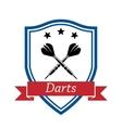 Darts sport icon vector image vector image