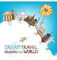dream travel around the world vector image
