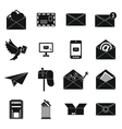 Email icons set simple ctyle vector image vector image