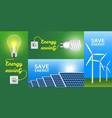 energy saving banner set realistic style vector image