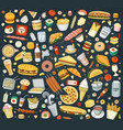 fast food elements vector image vector image