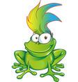 fun frog cartoon character mascot vector image vector image