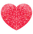 geometric polyart love heart shape vector image