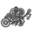 grey ornamental floral adornment vector image