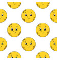 happy moon colored seamless pattern with cute vector image vector image