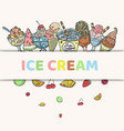ice cream and frozen yogurt in takeaway paper cup vector image